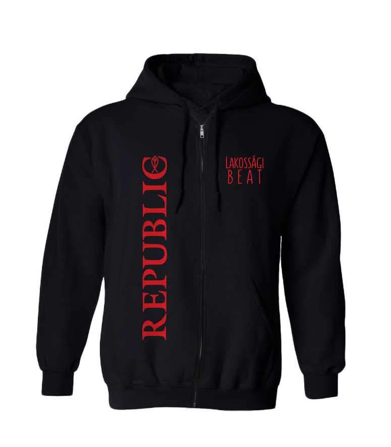 Republic kapucnis uniszex pulóver