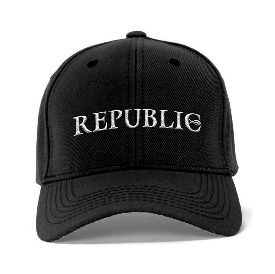 Republic baseball sapka - fekete