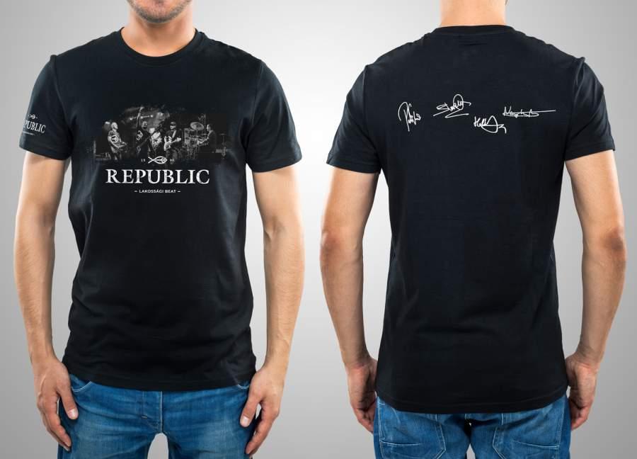 Republic dedikált férfi póló